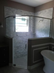Semi Frameless Shower Glass Enclosure