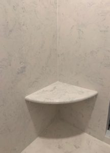 Cultured Marble Shower Corner Seat